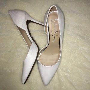✨ White Pointy Heels